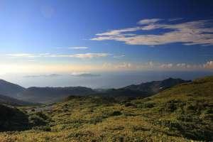 Vue du sommet de la Soufrière