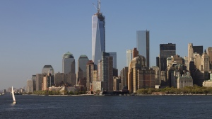 Skyline de New York depuis le ferry de Staten Island