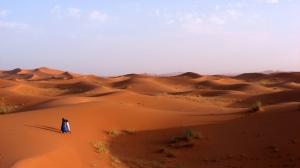 Dunes de sable au Maroc