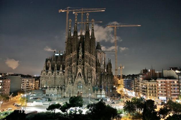Sagrada Familia de nuit